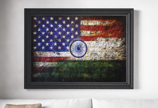 Beautiful hand painted flags