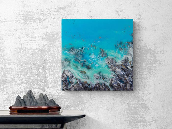 Coastal Ocean Resin Art