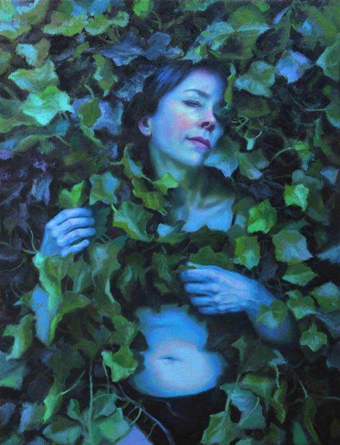 Francien Krieg midnight blue - beautiful nude art painting