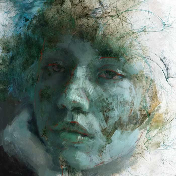 Goddess of fertility portrait painting by Michele Petrelli