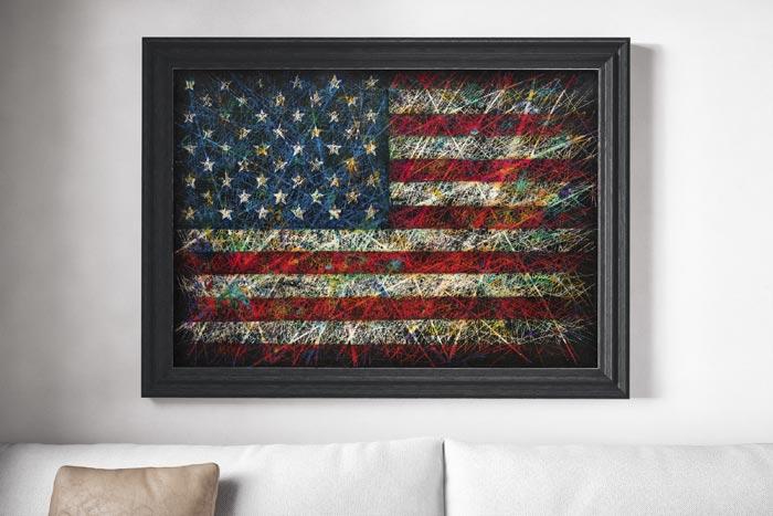 USA Flag Painting