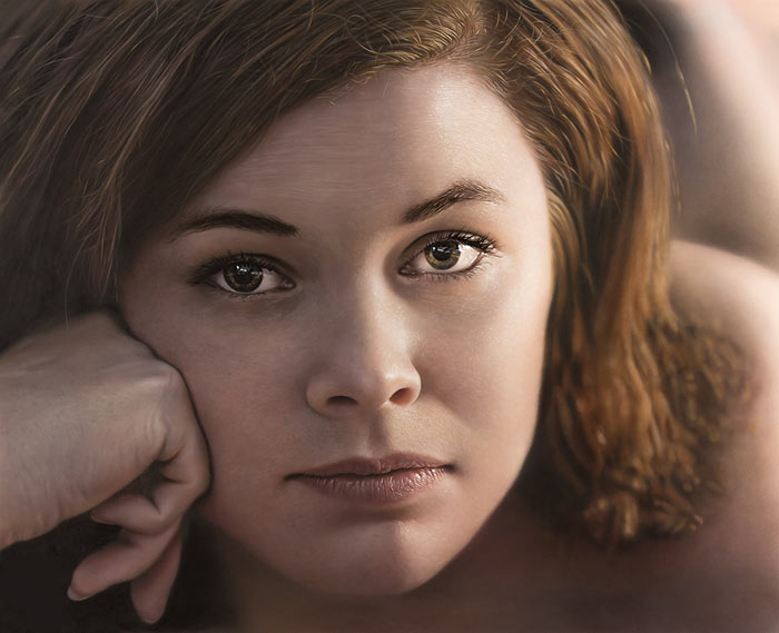 Hyper realistic Portrait of Tove by Johannes Wessmark