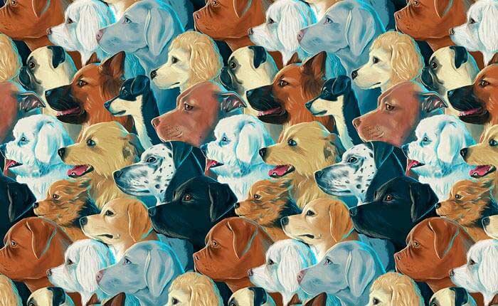 Create a seamless pattern of dogs Illustration Art