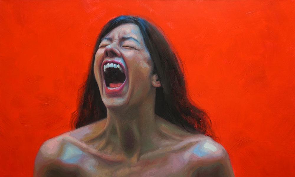 Naked woman oil painting