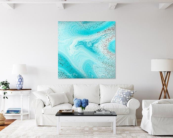Resin fluid acrylic painting