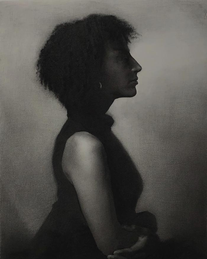 Lydia Charcoal and Graphite on Arches Paper by artist Eric J Drummond