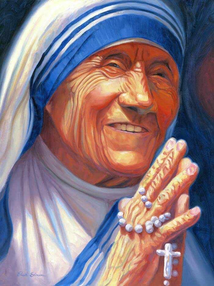 Mother-Teresa painting by Artist Steve Simon