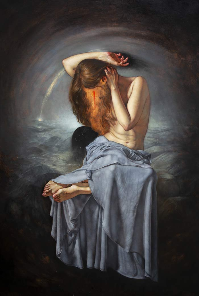 nocturne oil painting, Figure oil painting