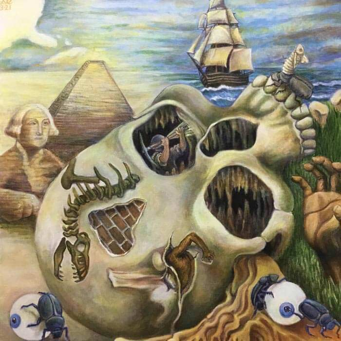 surrealist art painting by artist Dave Curtis