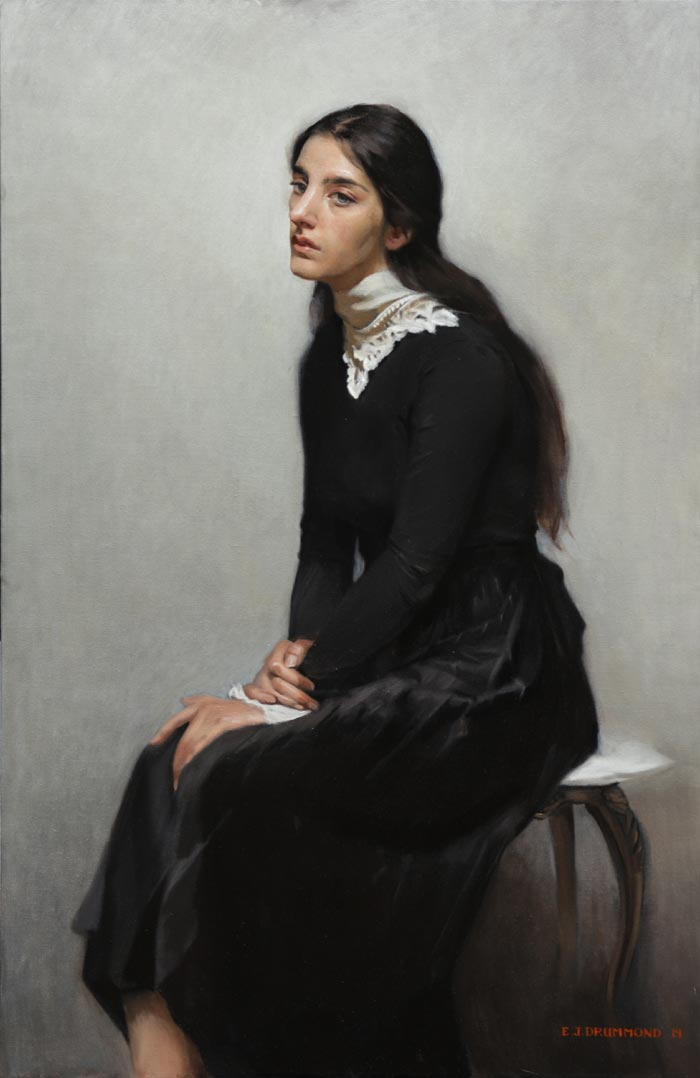 Portrait of Irene Manco by artist Eric J Drummond