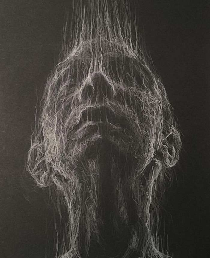Rapture White pencil drawing by Daniel Meikle