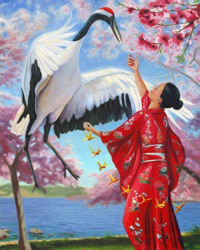 Sadako Sasaki art by Artist Steve Simon