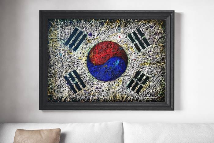 South Korea Flag Painting
