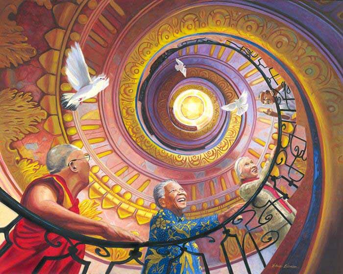 Spiral Staircase painting by Artist Steve Simon