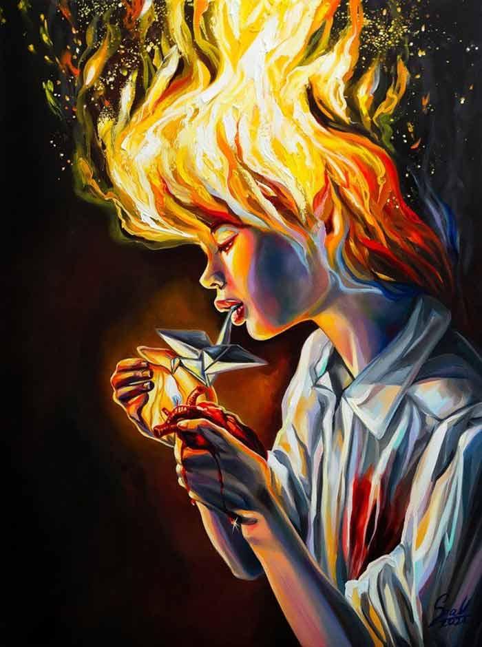surrealist painting by Vivien Szaniszlo