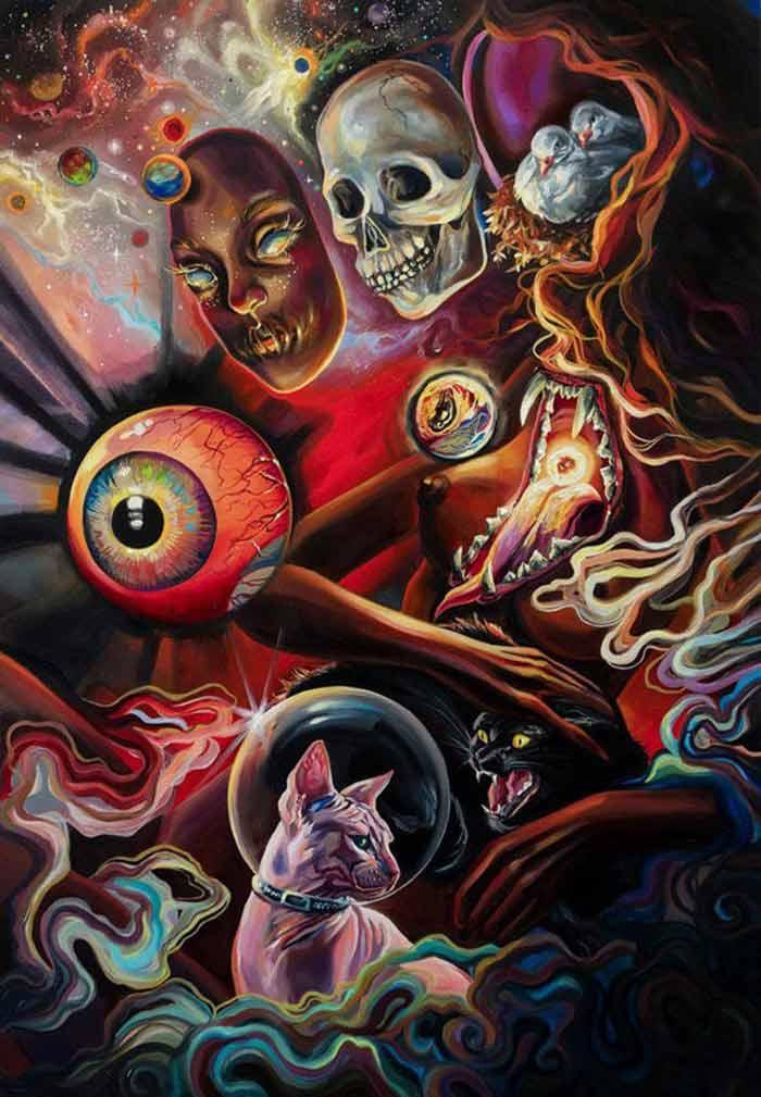 The fortune teller surrealism style by Vivien Szaniszlo