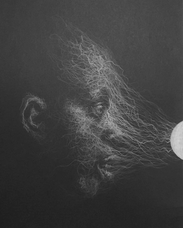 Time passing white pencil drawing by Daniel Meikle