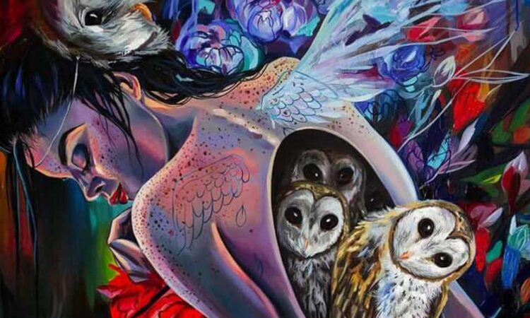 Surrealism paintings by Vivien Szaniszlo