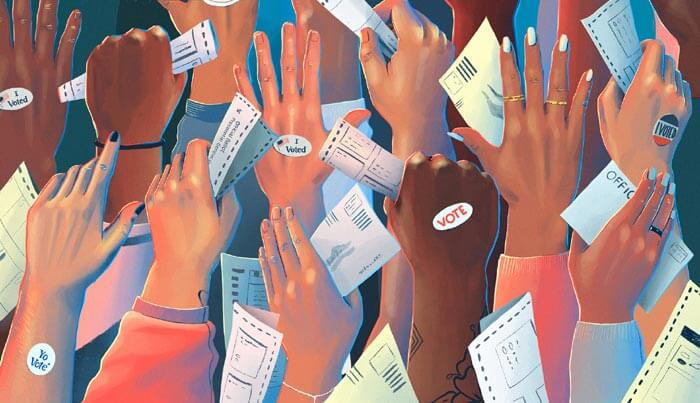What If They Held an Election and Everyone Came illustration art