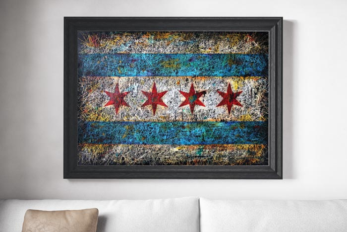 Chicago Flag Painting