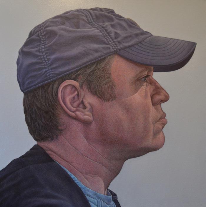 Man in a hat self portrait