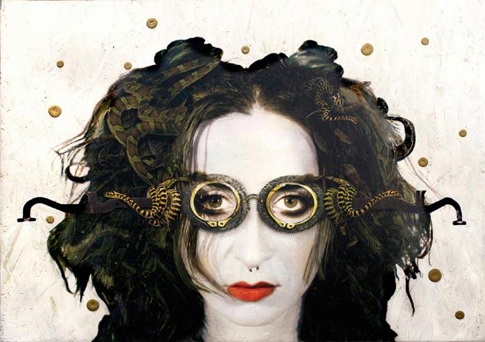 MindsEye VI mixed media painting by Carol Coates