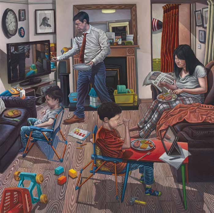 Portrait of a modern family by Connor Maguire