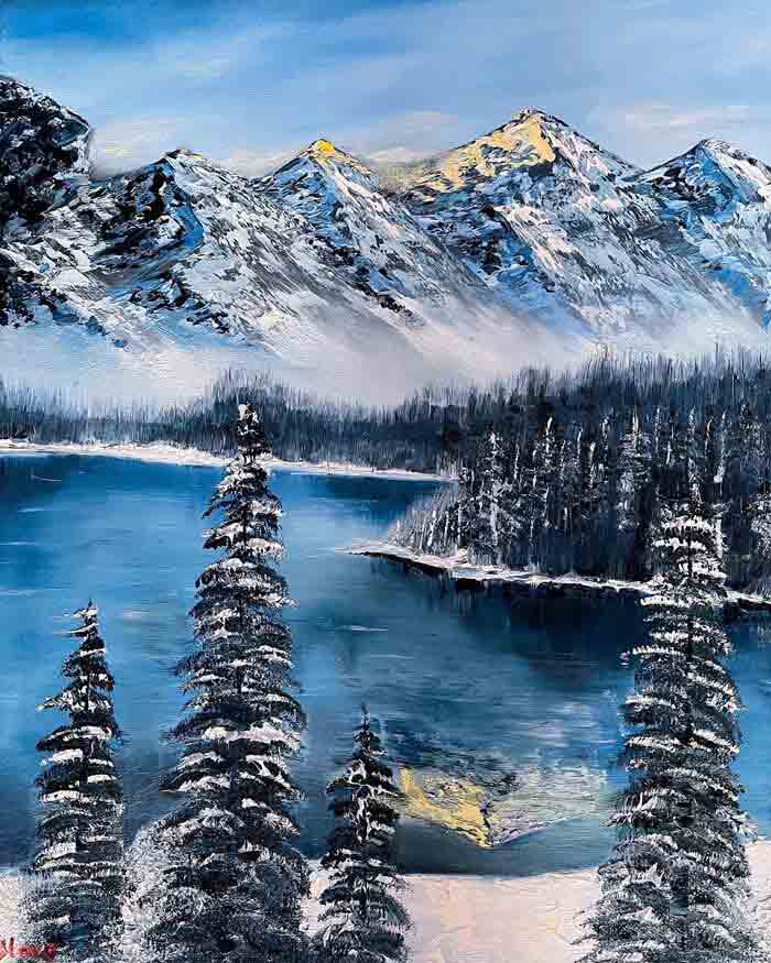 Amazing Mountscape Oil Painting Art Decor