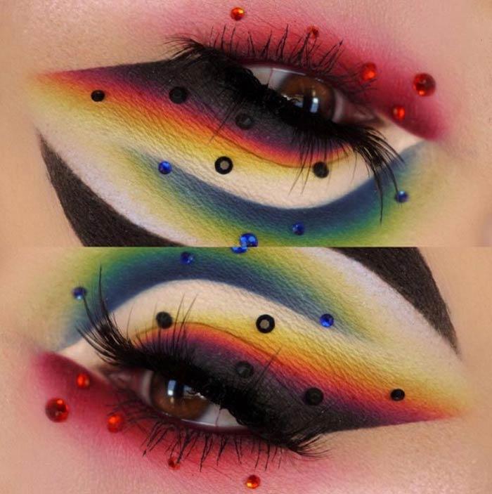 Creative eye makeup by the Maggie Jones