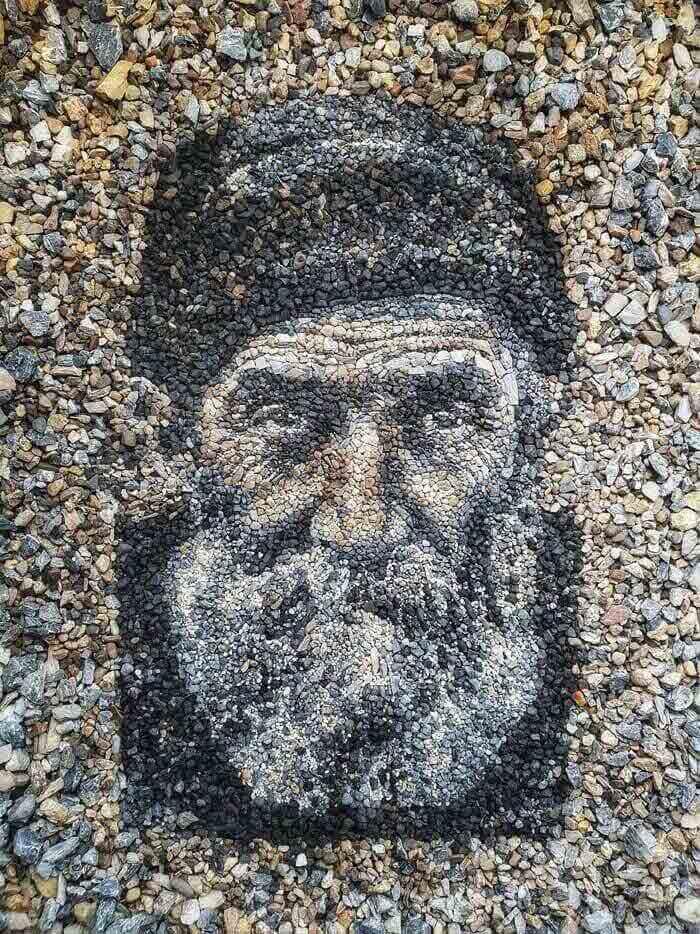 Fisherman stones portrait