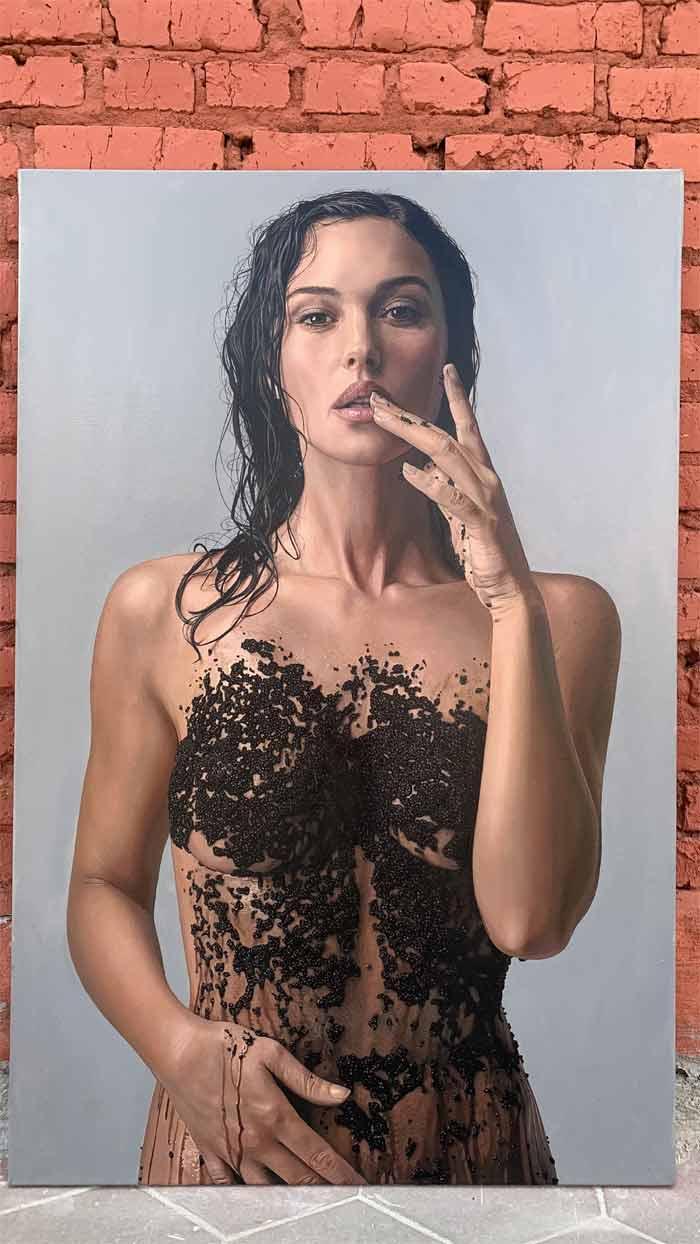 Monica Bellucci Wears Cavia hyperrealistic art