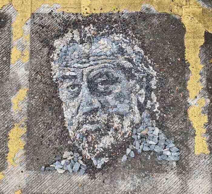 Robert De Niro stones portrait