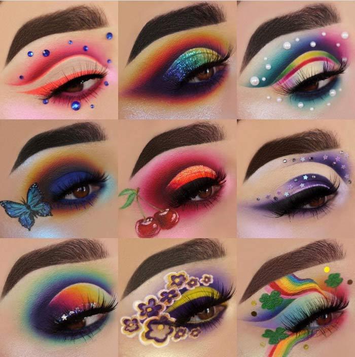 trendy eye makeup by the Maggie Jones