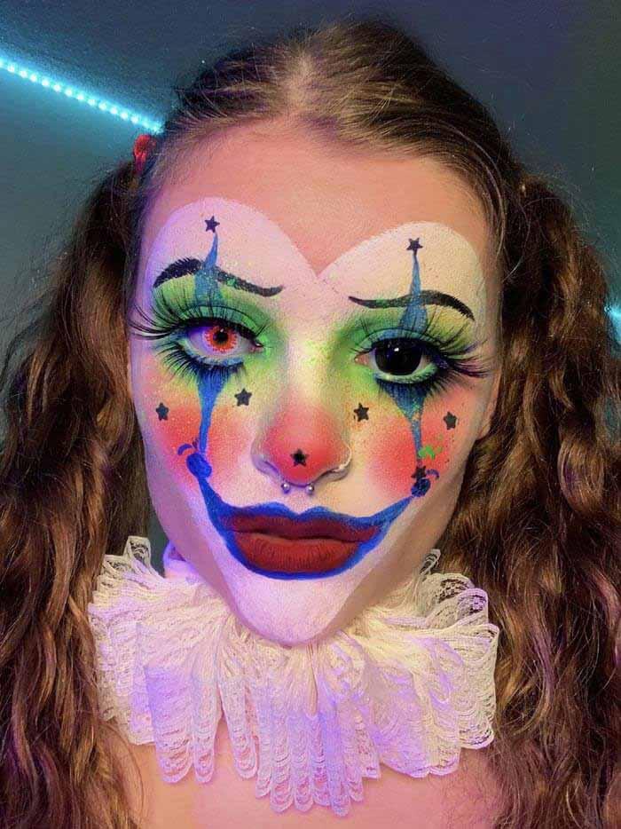 Keely freak show Clown makeup look