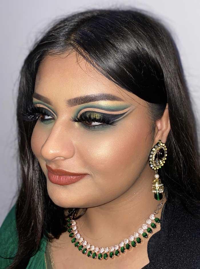 lovely eye makeup by Annie sachdevaa