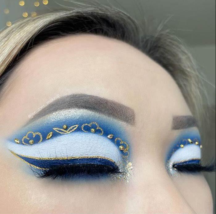Beautiful eye makeup art by J'Lee Christy