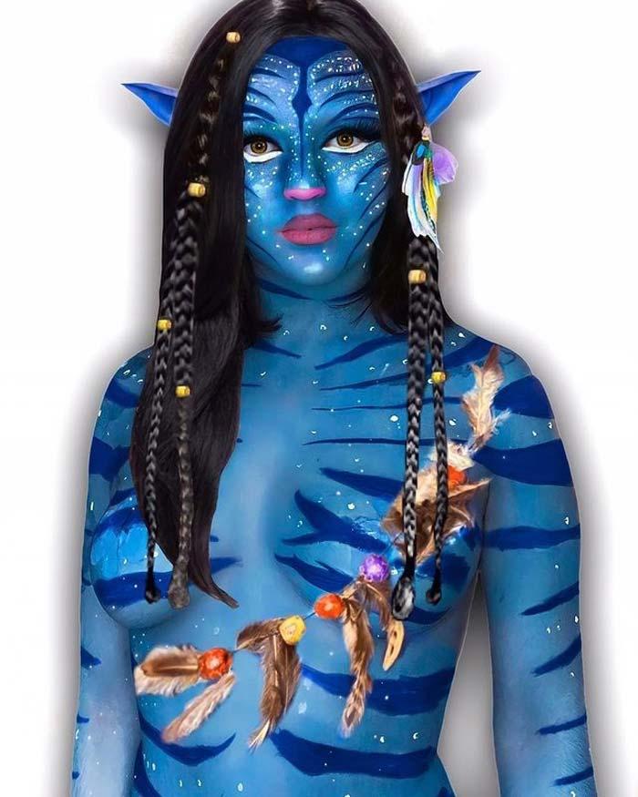 Avatar full body painting Celine Cruz