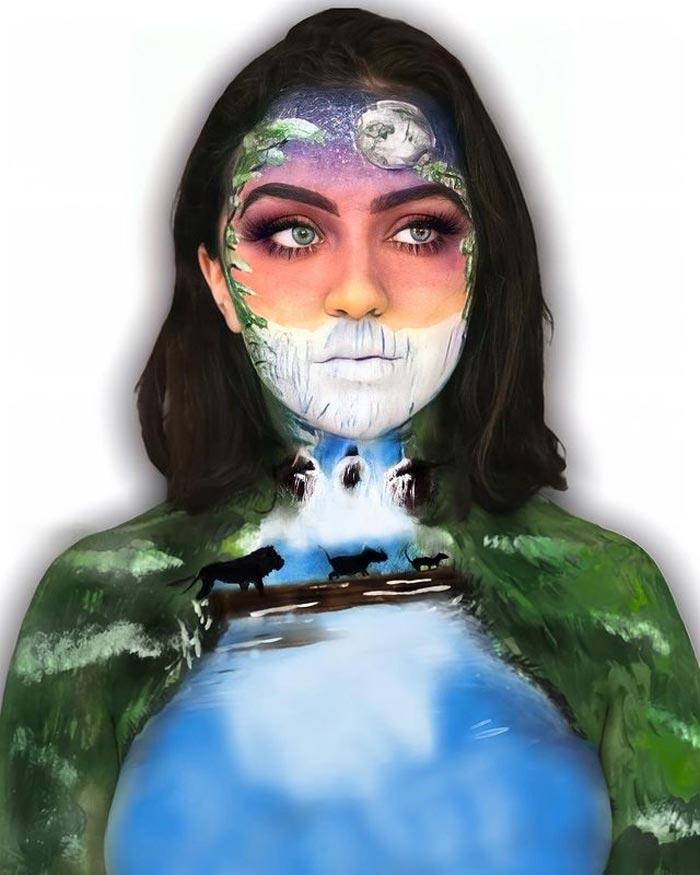 Hakuna Matata body painting Celine Cruz