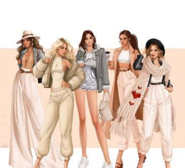 Fashion dress drawings by Tess