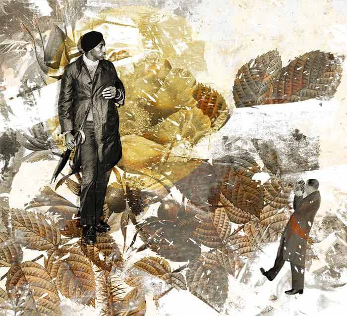 Magazine collage art by Luise Eru