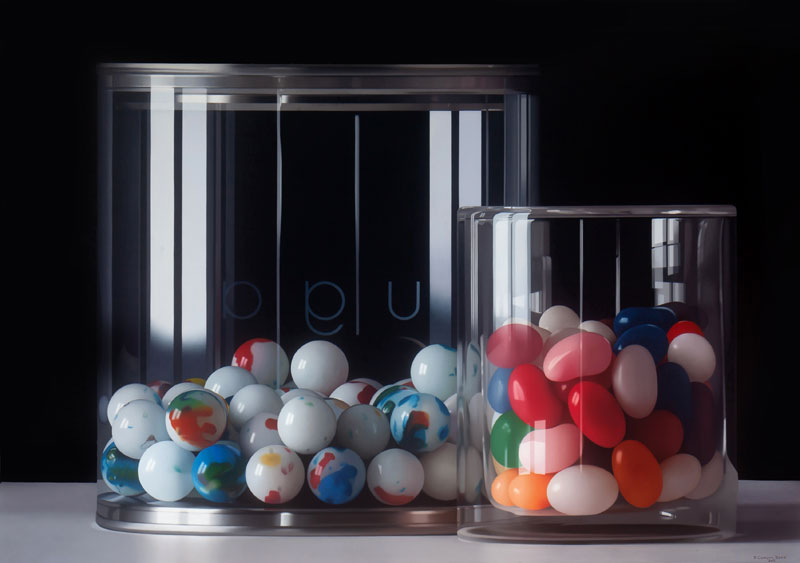Jellybeans Glass Hyper realism Painting by Pedro Campos