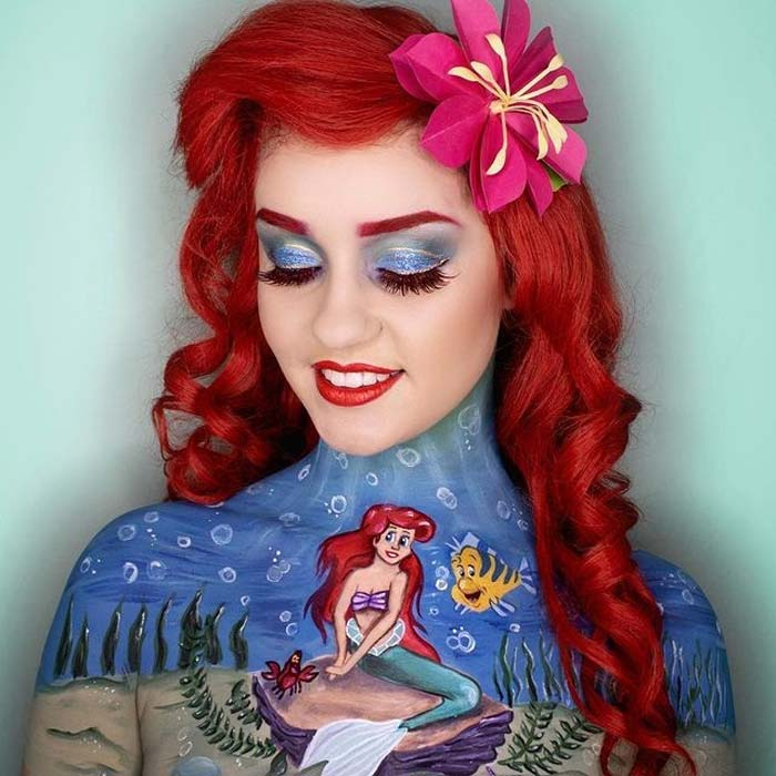 Stunning disney body painting by Paige Marie
