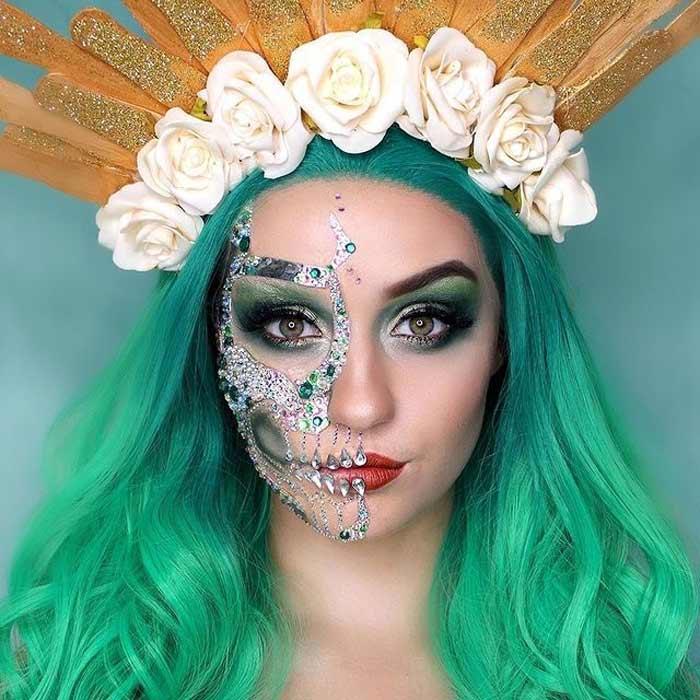 Sugar skull makeup looks by Paige Marie