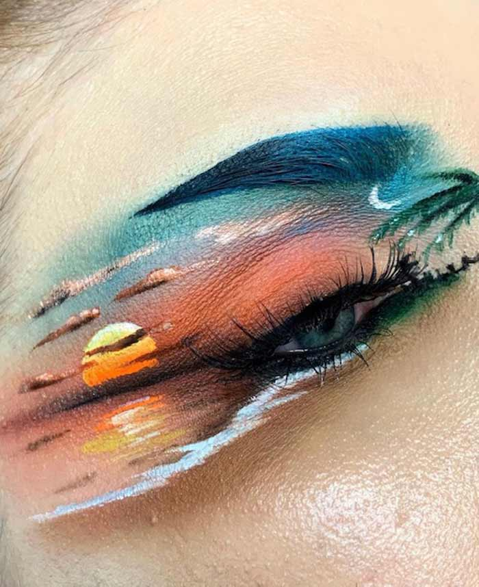 Sunset eye makeup ideas by by The Bria Beauty