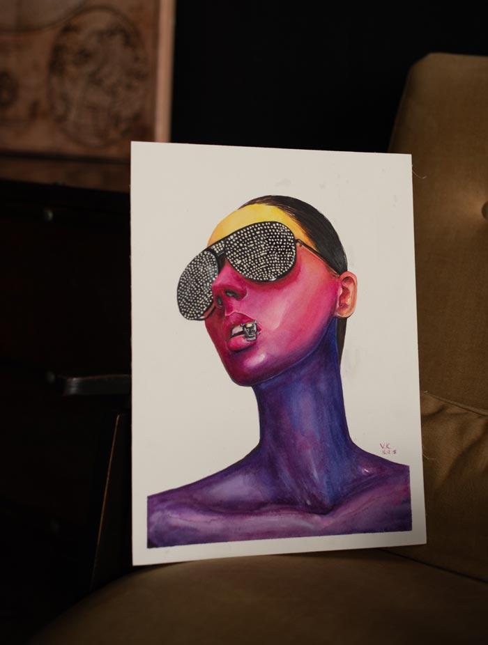 Trendy beauty illustration by Victoria Kagalovska