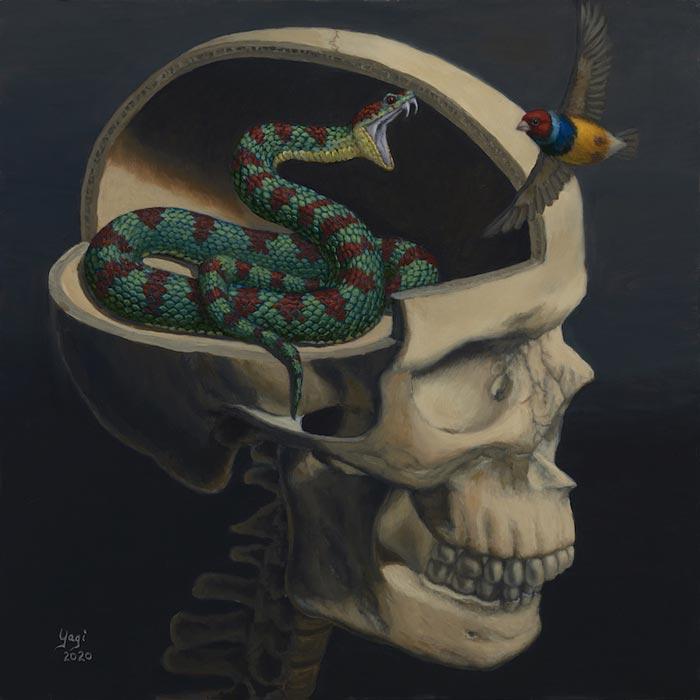 Inner Venom oil on panel surrealism art