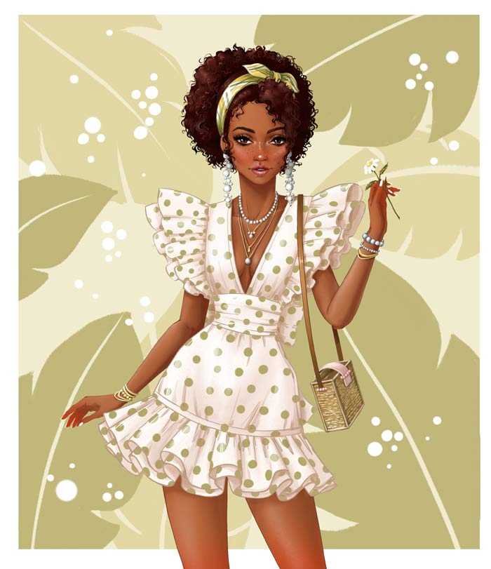 Digital illustrator fashion by Tess