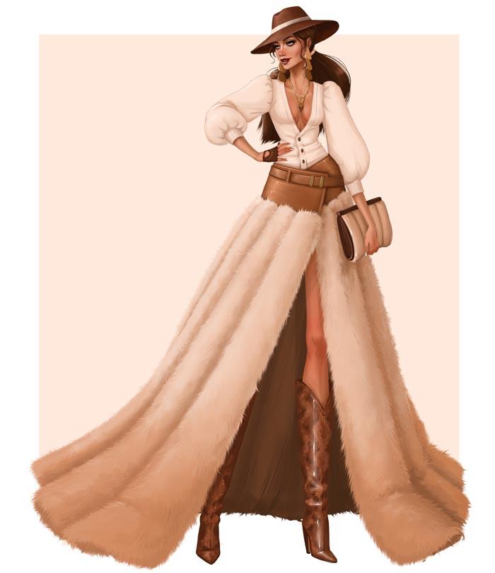 fashion art by Tess