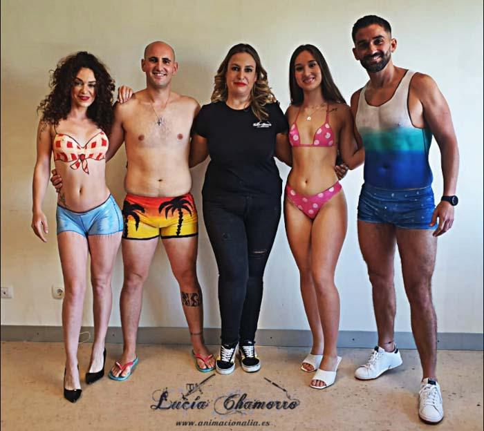 Lucia Chamorro body art paintings
