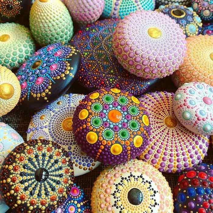 Stunning mandala stones